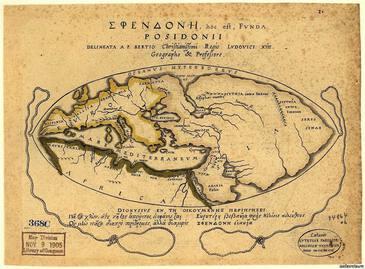 Карта Мира в представлении Посидония,139-135 г. до н.э