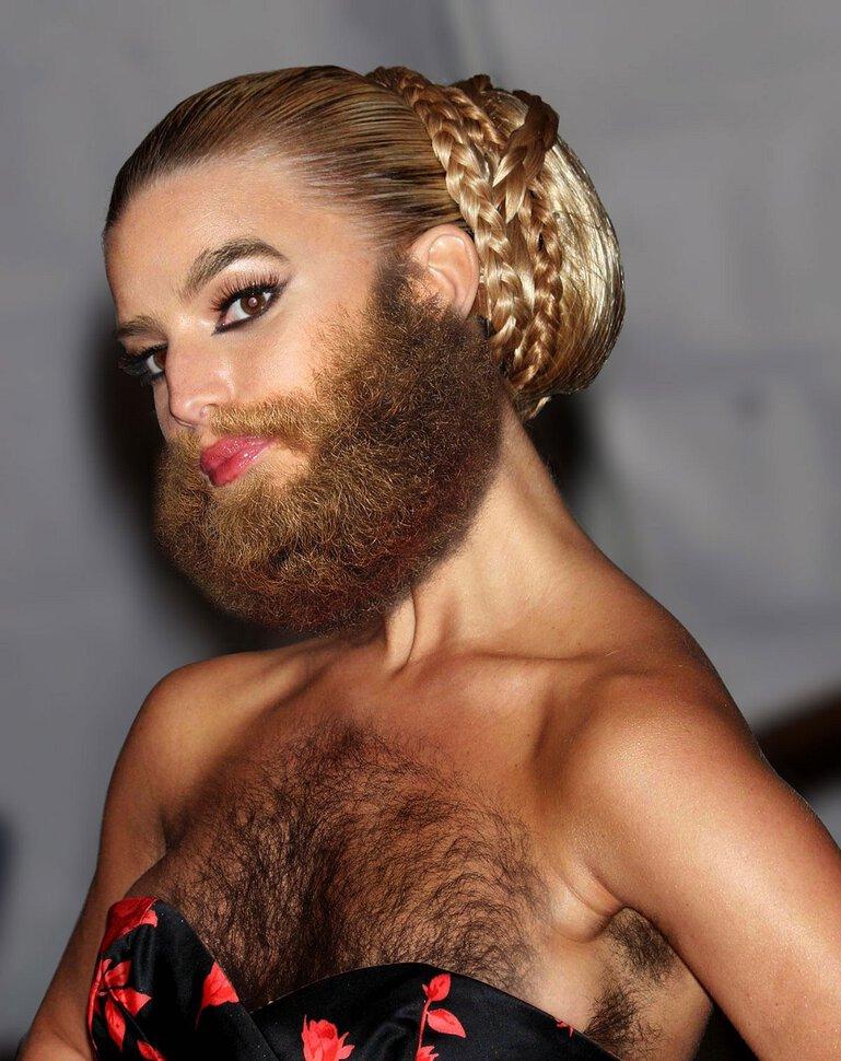 волосатая женщина мужик