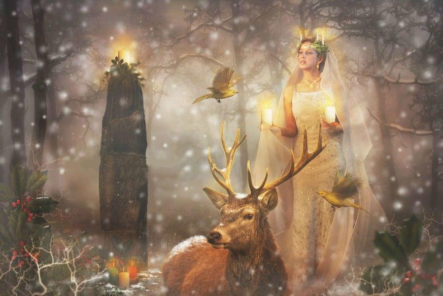 Романтика страсть, зимнее солнцестояние открытки