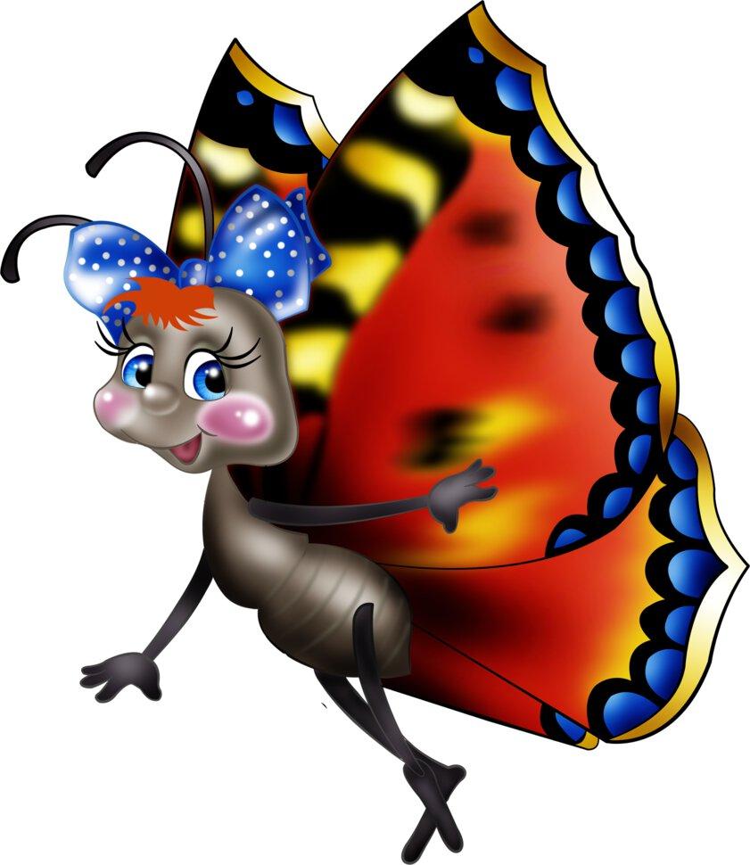 Картинки бабочек смешные