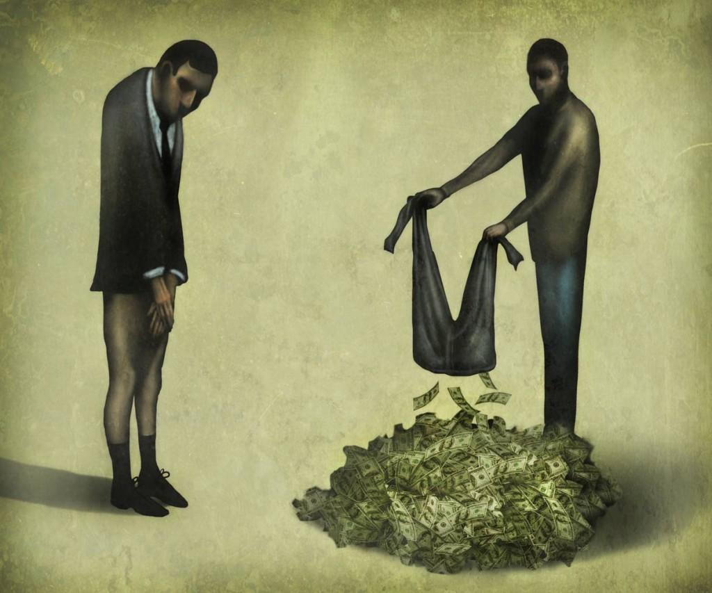 Богатые и бедные люди в картинках