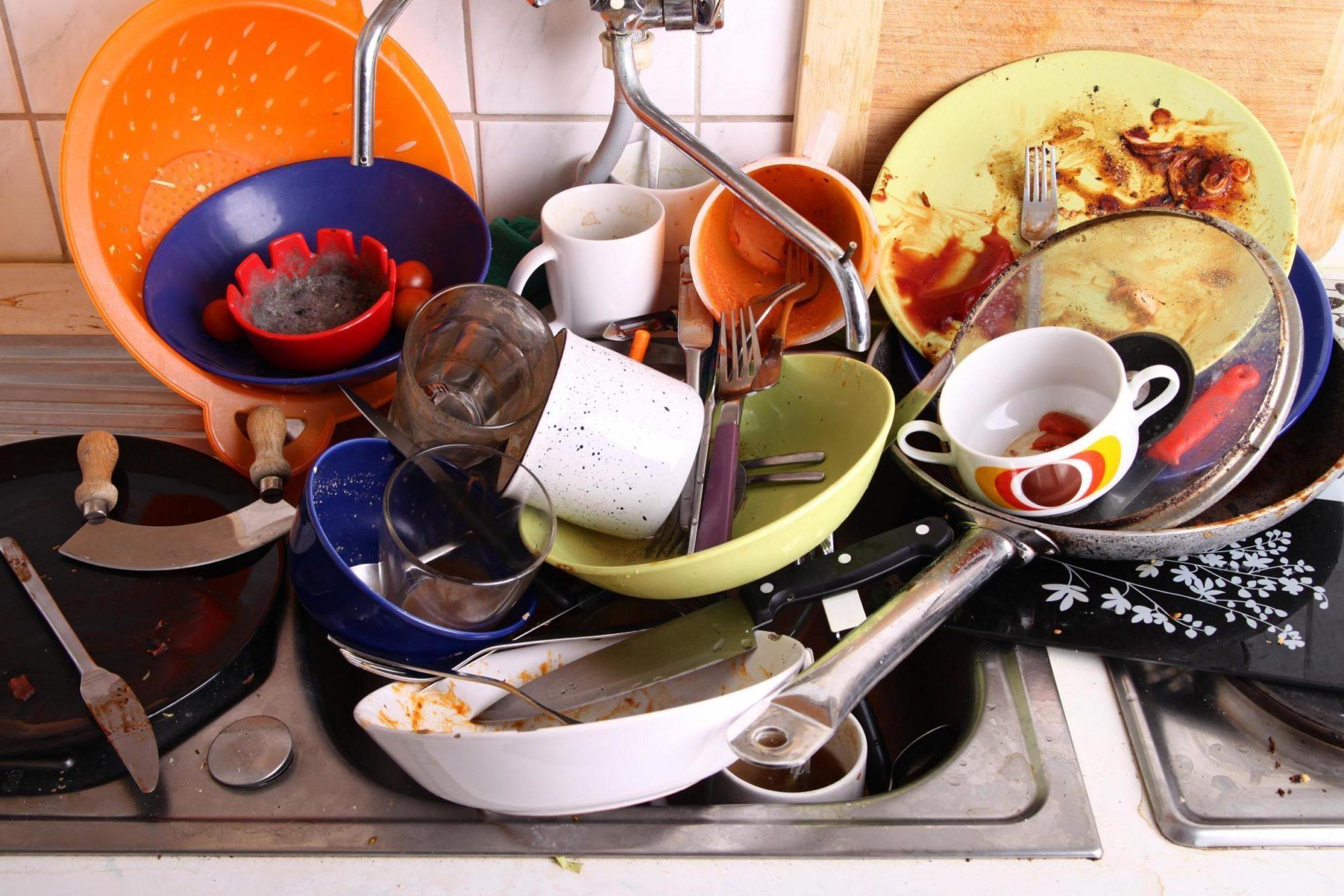 картинка гора посуды кольцевые