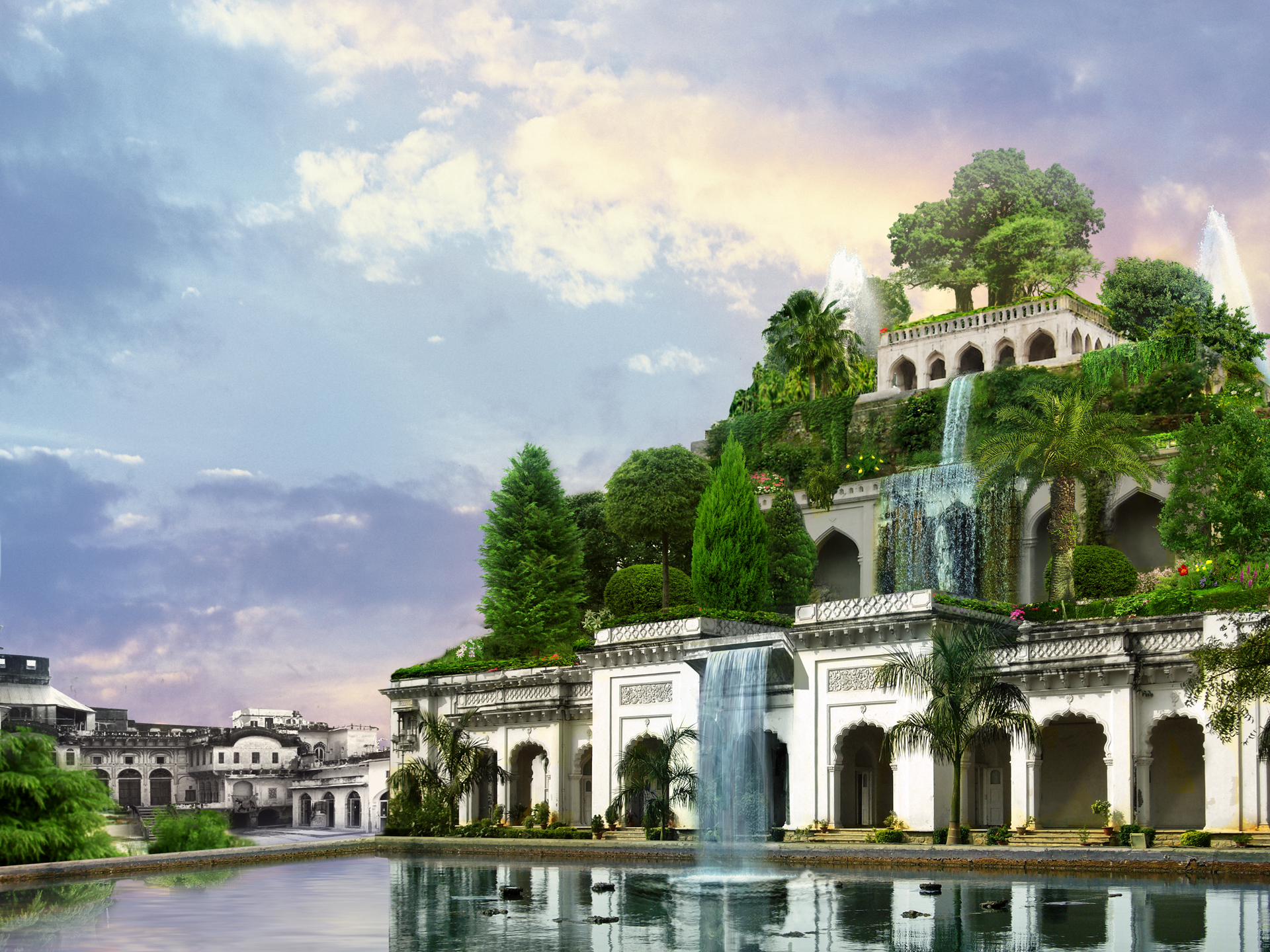 была семь чудес света картинки сады семирамиды личности выбирают эскиз