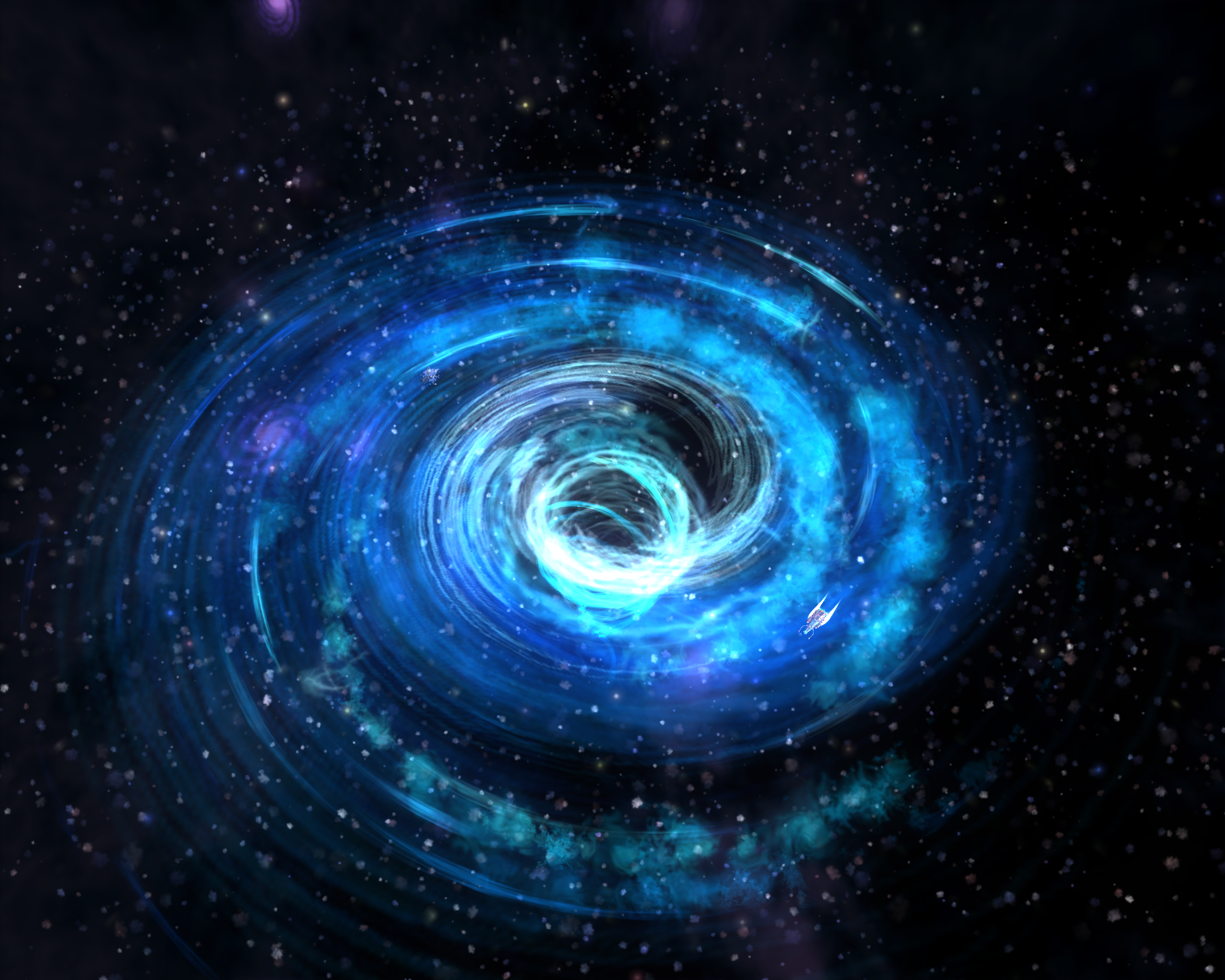 the universe cosmos galaxies space black holes earth - HD2560×2048