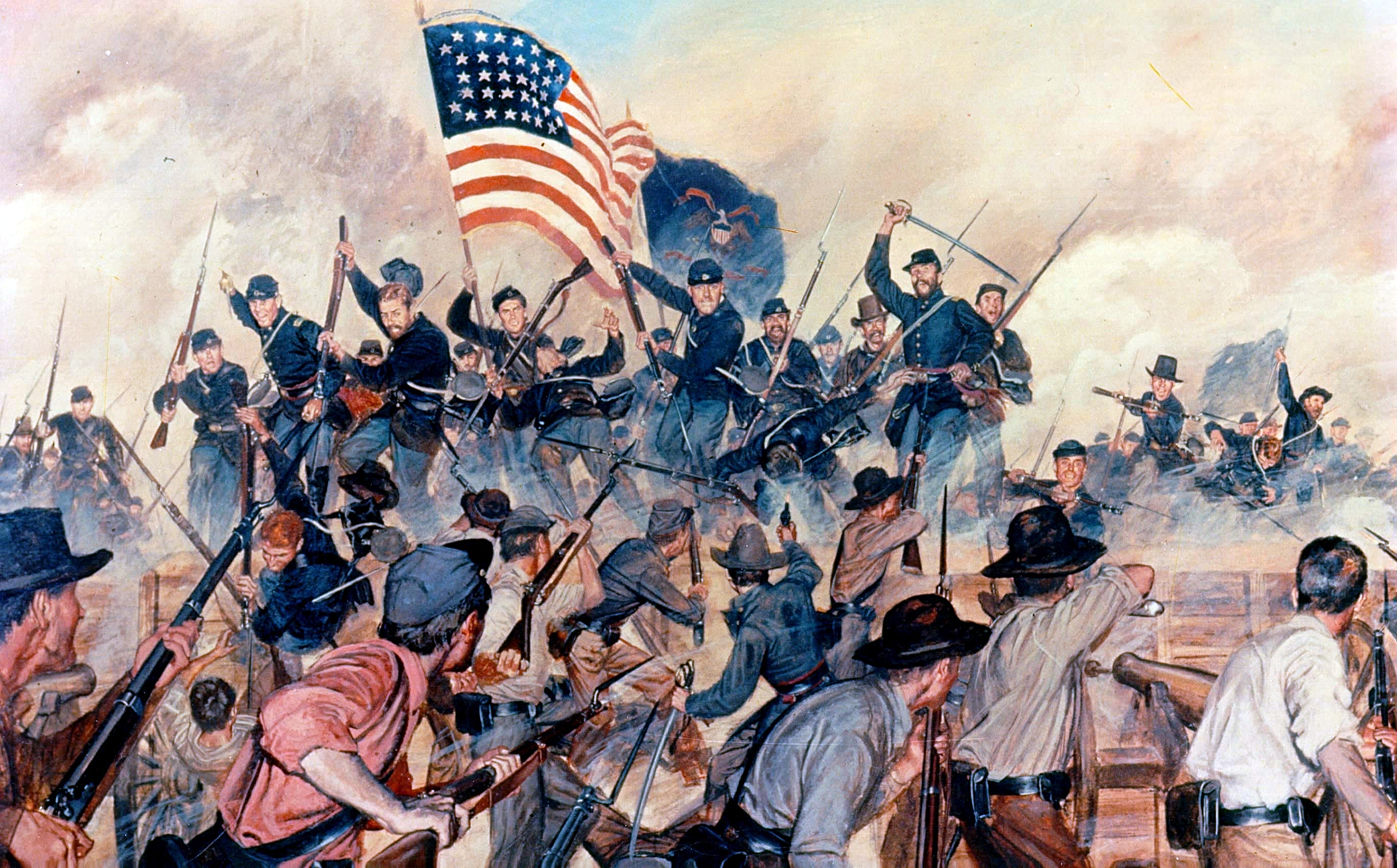 a description of the american civil war as a military conflict between the united states of america The american civil war was fought by 11 southern states known as the confederacy and union states since president abraham lincoln and the republican party were against the expansion of slavery, the southern states declared their secession from the union.