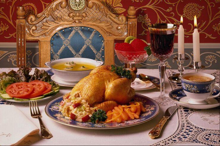 картинки праздничного стола на обед