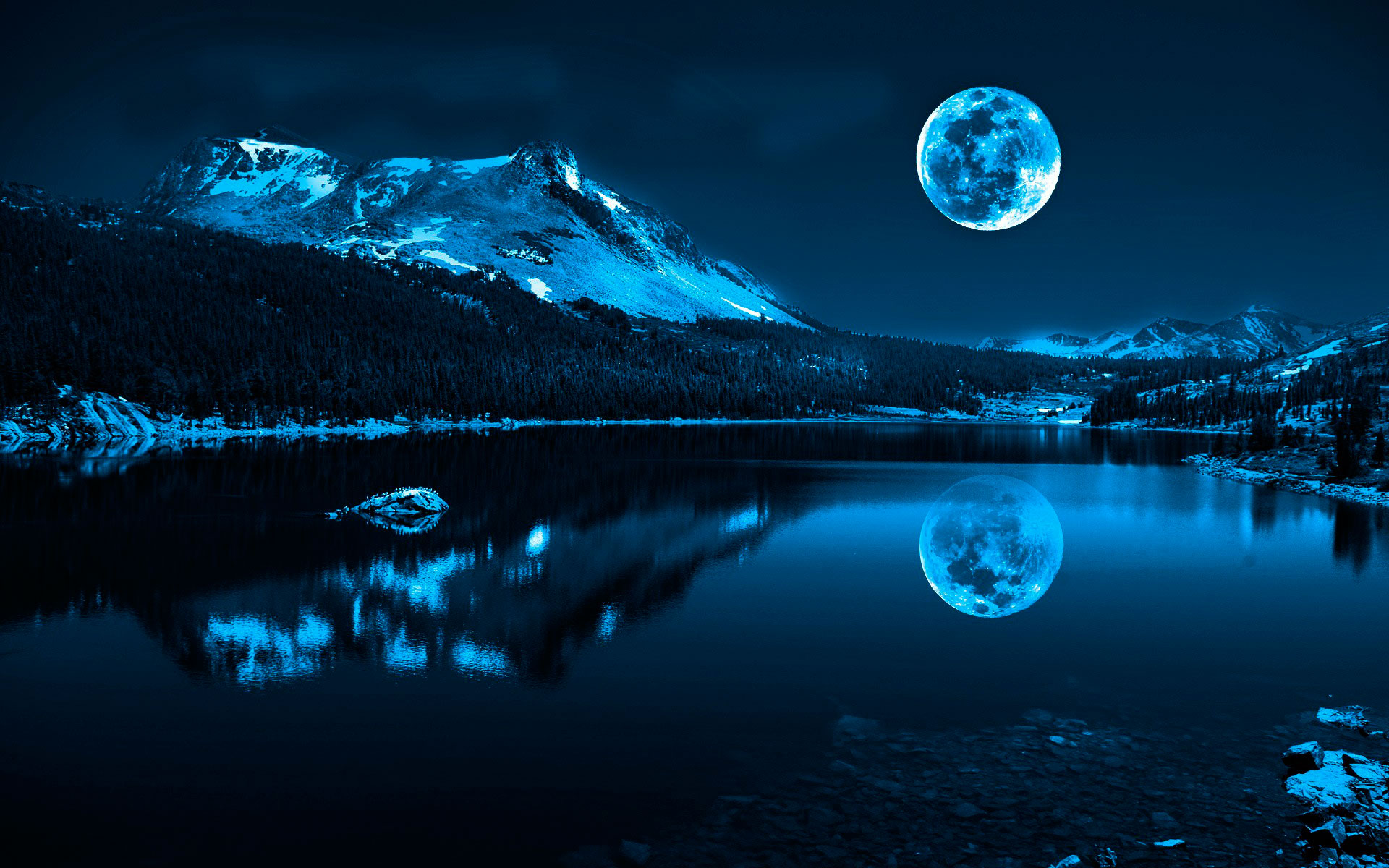 местные обои на рабочий стол природа ночью фото серый текстиль