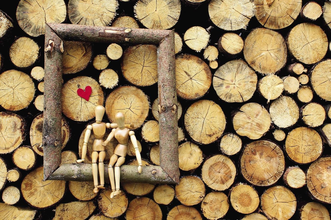Деревянная свадьба. открытки, анимация картинки про