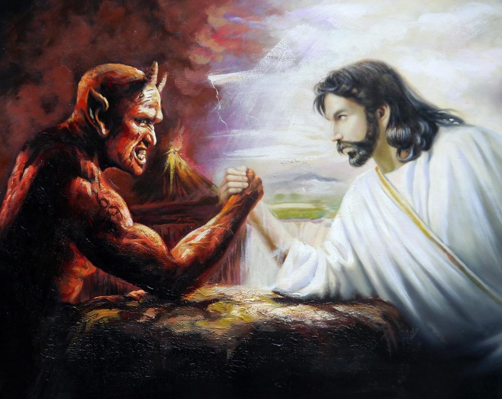 Картинки иисус с демоном