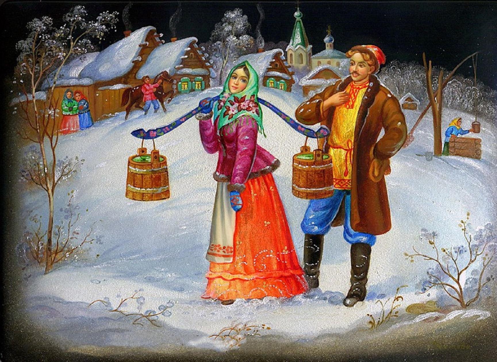 русские народные картинки зима завершении здесь будет
