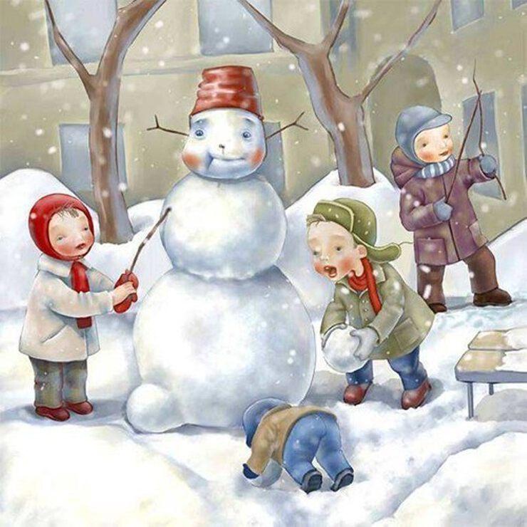 Открытки рождением, зимние картинки картинки для детей
