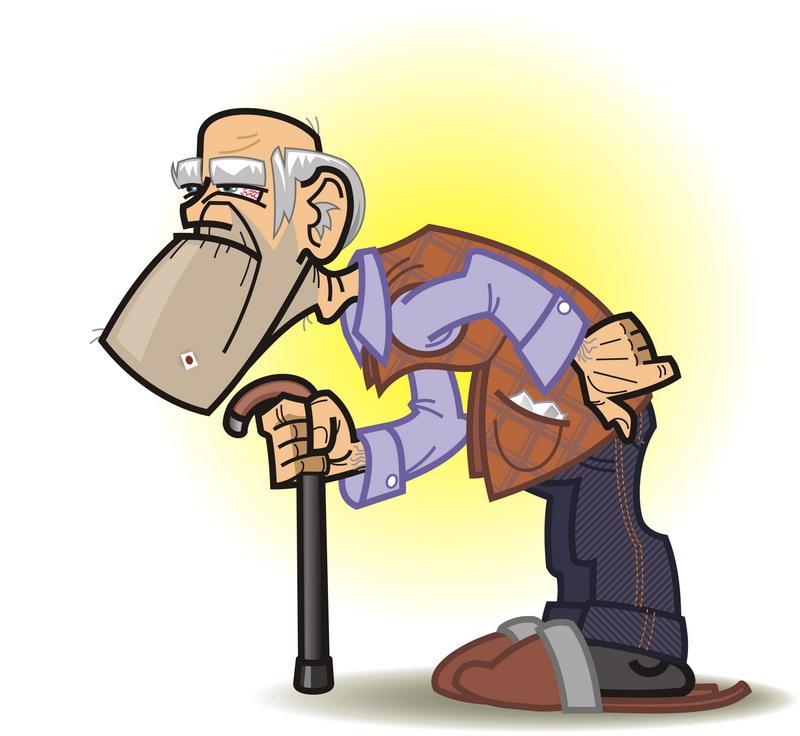 Красивые, смешной рисунок дедушки