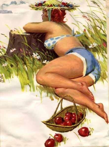 Смешные картинки женщин на огороде