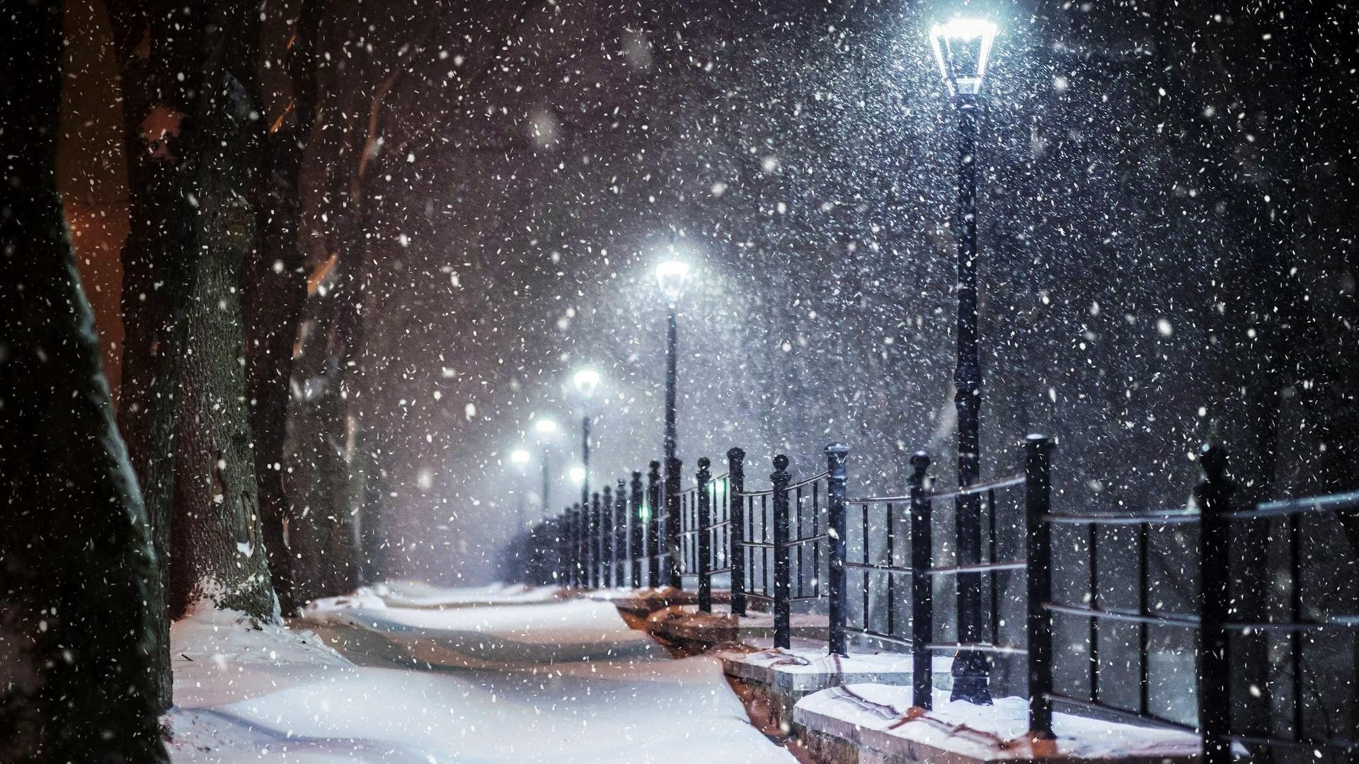 очень картинки на рабочий стол с падающим снегом атрибутом красоты