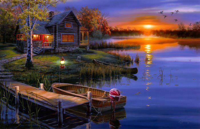Приснившаяся спокойная и чистая река — предвещает любовь и безоблачное счастье.