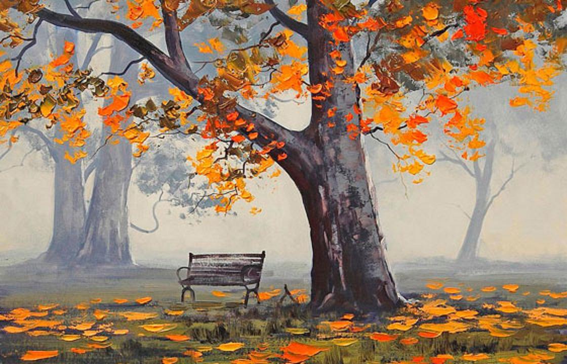 Осень в рисунках картинки