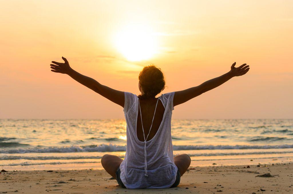 Медитация на рассвете картинки